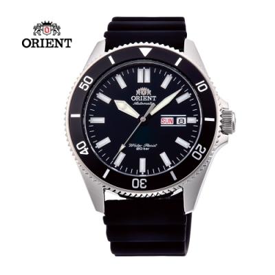 ORIENT 東方錶 WATER RESISTANT系列200m潛水錶-黑色/44 mm