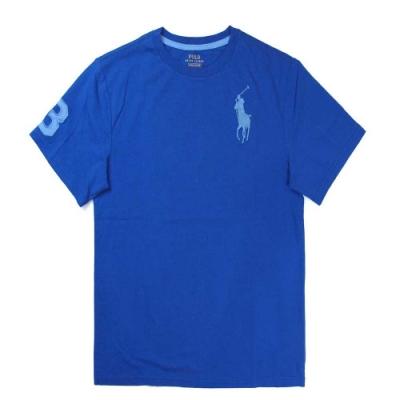 Polo Ralph Lauren 大馬Logo寶藍色3號馬球短袖圓領棉T