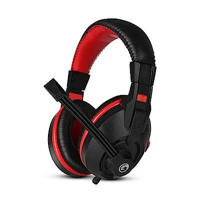 【MARVO】H8321 電競立體聲耳罩式耳機 黑紅