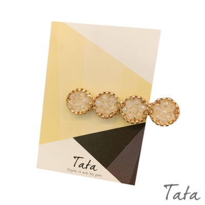圓珠水晶鑽髮夾 共三色 TATA