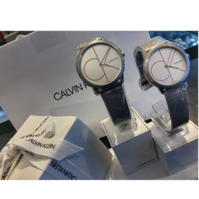 Calvin Klein CK 經典風格米蘭帶對錶/K3M52152/K3M51152/情人節寵愛禮