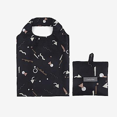 Dailylike 摺疊口袋購物袋S-01幾何數字