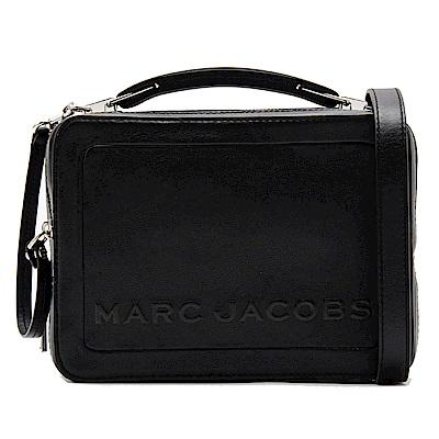 MARC JACOBS THE BOX 23 雙拉鍊牛皮手提/肩背兩用包(經典黑)