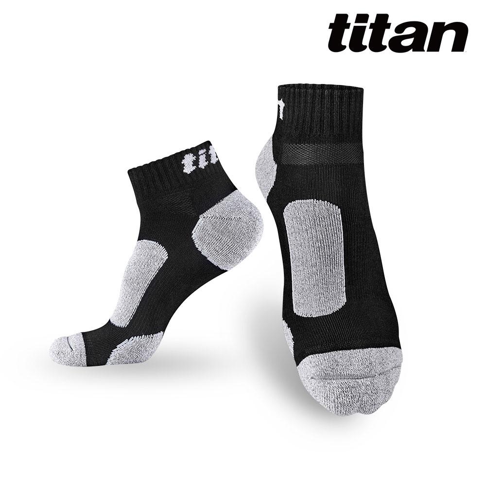 Titan太肯 3雙功能慢跑訓練襪_黑竹炭(純棉保暖超好穿)