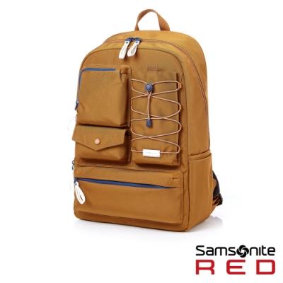 Samsonite RED MIRRE 時尚造型可拆卸筆電收納後背包15.6吋(米)