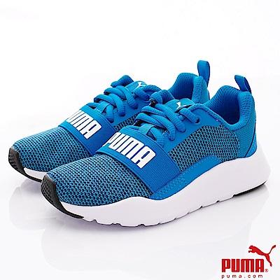 PUMA童鞋 綁帶運動款 TH67382-05藍(中小童段)
