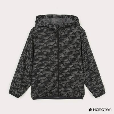 Hang Ten-中性童-恆溫多功能-防輕潑水自收防風外套-黑色