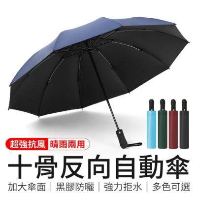 御皇居 黑膠十骨反向自動晴雨傘(4色) [限時下殺]
