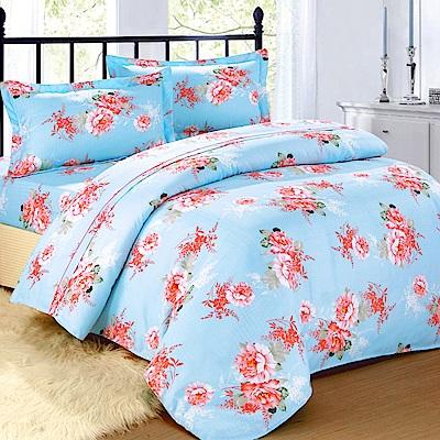 在水一方-柔絲絨加大四件式兩用被床包組
