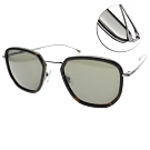 HUGO BOSS 太陽眼鏡  時尚多邊款/琥珀棕槍-綠 #HB1029FS 086QT