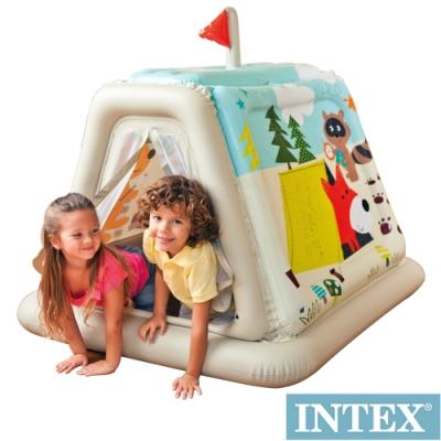 (時時樂限定) INTEX 幼童款-室內帳篷/充氣式遊戲帳篷(48634)