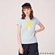 GIORDANO 女裝SUN AND SEA系列印花短袖T恤-22 夢想藍 product thumbnail 1