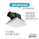 SUNON建準|DC直流25型側吸 換氣扇/排風扇(含濾網)|超省電、超靜音、浴室排風