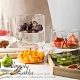 Homely Zakka 創意ins風金色可堆疊玻璃碗/玻璃儲物罐/沙拉碗(款式隨機) product thumbnail 1
