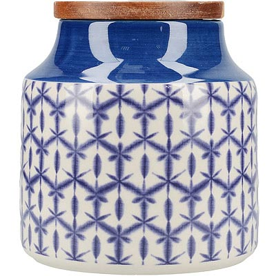 CreativeTops Drift陶製密封罐(蠟染藍)