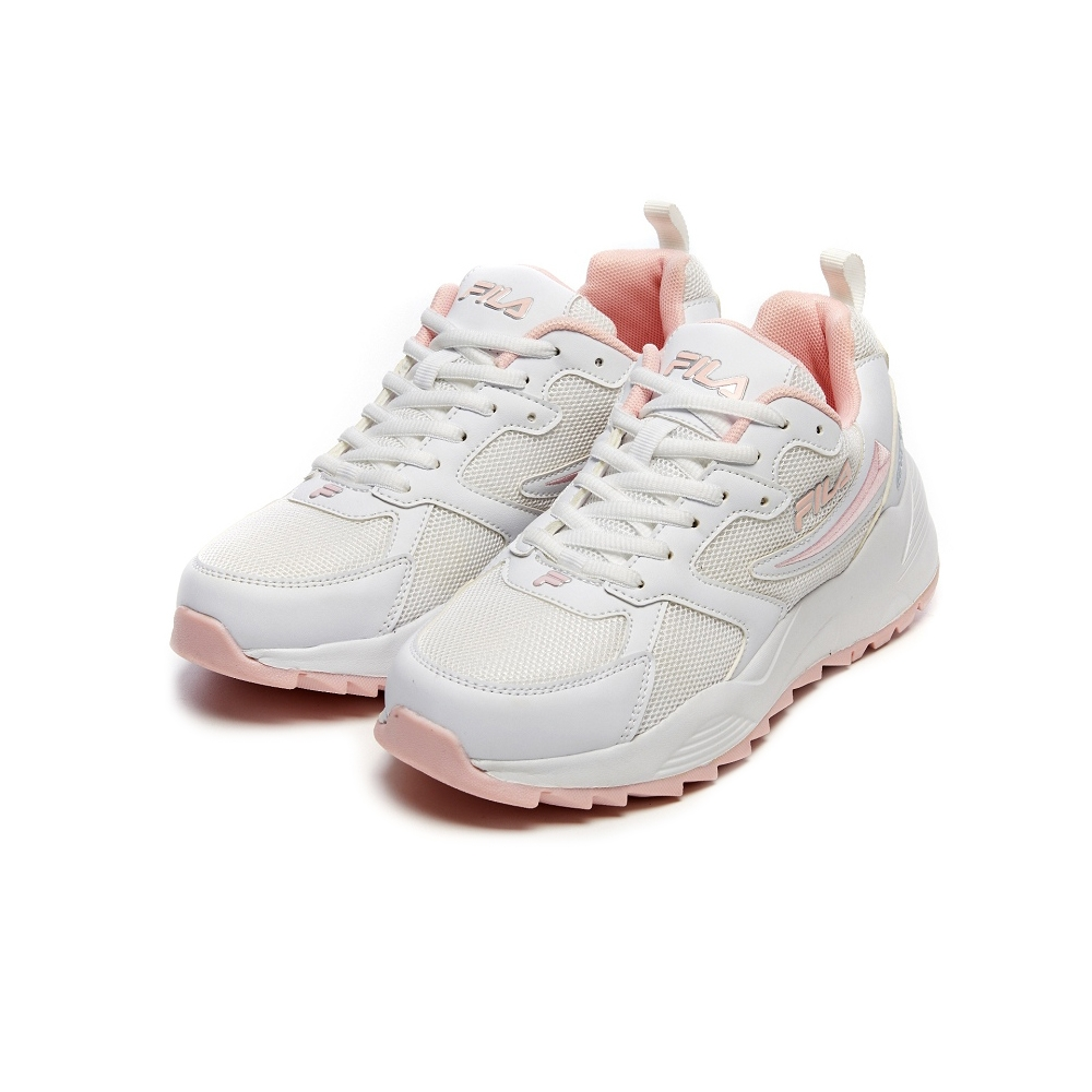 FILA 女慢跑鞋-白/粉 5-J201V-115