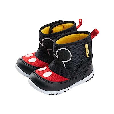 迪士尼童鞋 米奇 魔鬼氈輕量中筒靴-黑