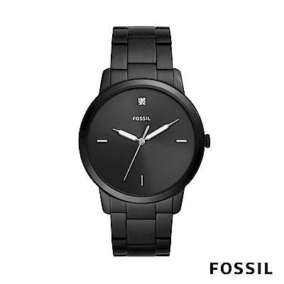 FOSSIL MINIMALIST 簡約設計中性鍊錶-黑