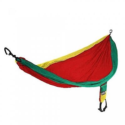 ENO SingleNest Hammock 單人吊床 紅底綠黃邊