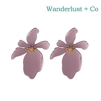 Wanderlust+Co 澳洲時尚品牌 CAMILLA蘭花系列耳環 粉紫色