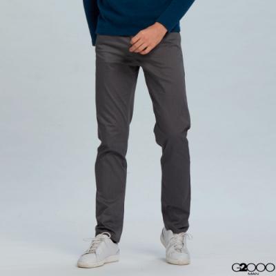 G2000斜紋休閒5袋長褲-灰色