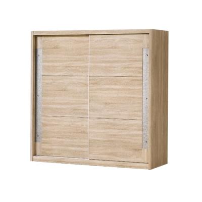 柏蒂家居-馬里昂工業風6尺推門/拉門衣櫃(三吊桿+二抽屜)-180x60x197cm
