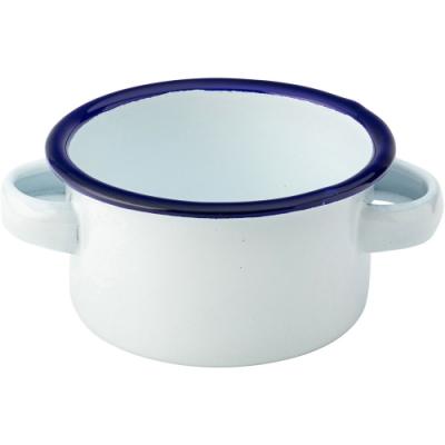 《Utopia》雙耳琺瑯餐碗(藍7cm)