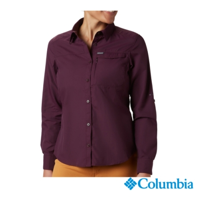 Columbia哥倫比亞 女款-UPF50快排襯衫-暗紫UAK26570DL