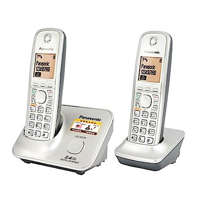Panasonic國際牌 2.4GHz 高頻數位大字體無線電話KX-TG3712 時尚銀