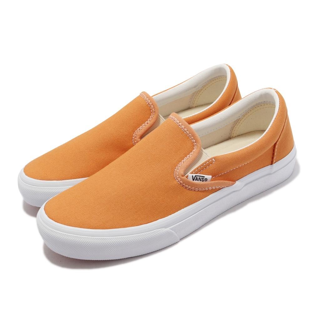 Vans 休閒鞋 V98CF Bloom Slip On 女鞋 懶人鞋 無鞋帶 好穿脫 帆布 橘 白 6117920004