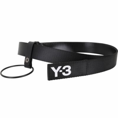 Y-3 HOOK 金屬環設計字母標誌織布腰帶(黑色)