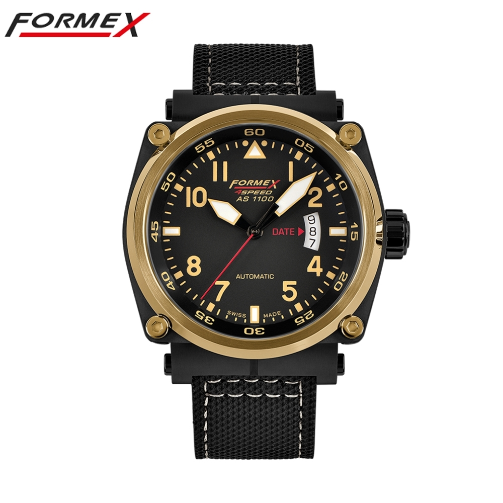 Formex 弗美克斯飛行系列自動錶(金色框)1100.6.7022.213