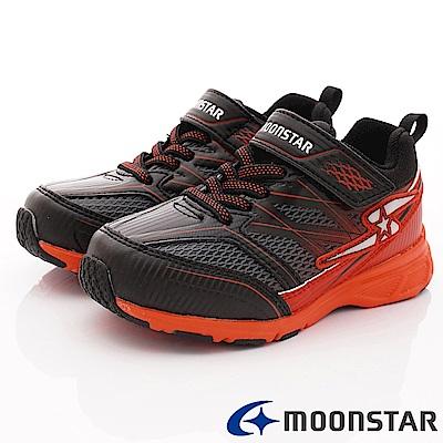 日本月星頂級競速童鞋 輕量防滑系列 EI916黑紅(中大童段)