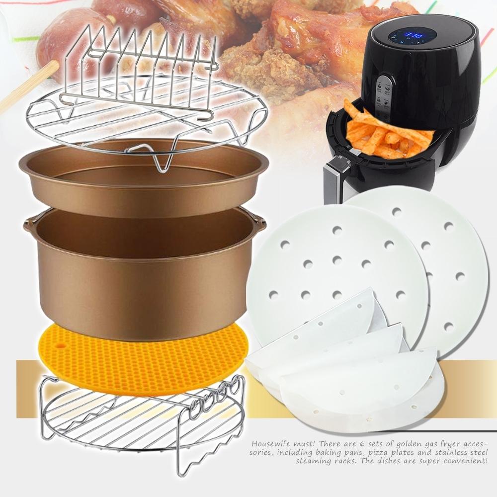 [時時樂限定] Effect 氣炸鍋專用豪華六件組+不沾黏烘焙紙400張