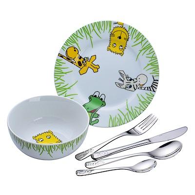 WMF 動物園系列 不鏽鋼兒童餐具 6件組