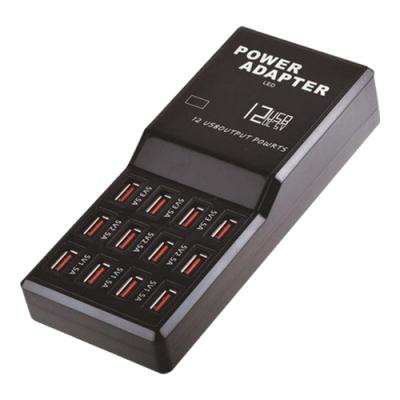 XLD-868 12孔輸出極速12A智慧USB充電器