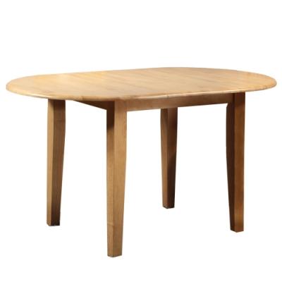 【AT HOME】現代鄉村4.5尺原木色實木伸縮橢圓餐桌/工作桌/洽談桌(塔帕斯)