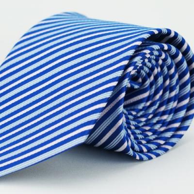 【Alpaca】藍粉條紋領帶