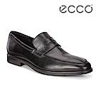 ECCO MELBOURNE舒適透氣商務休閒皮鞋 男-黑