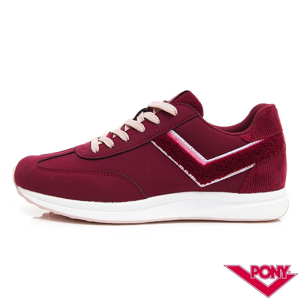 【PONY】Montreal 輕量時尚運動鞋 慢跑鞋 休閒鞋-女鞋 酒紅