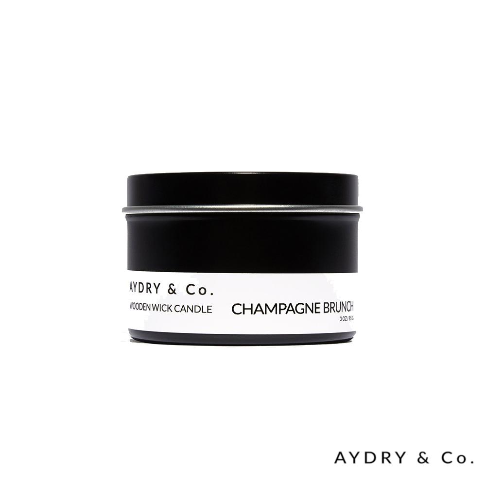 美國 AYDRY & CO. 微醺香檳 天然手工木芯香氛 錫盒85g