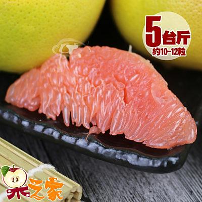 【果之家】特選薄皮紅肉葡萄柚5台斤(約10-12顆)