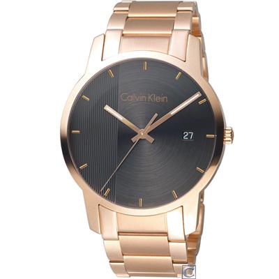 Calvin Klein City 都會系列時尚錶(K2G2G643)玫瑰金色/43mm