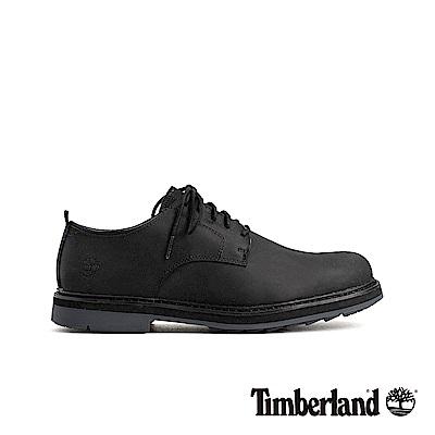 Timberland 男款黑色商務皮革牛津休閒鞋 A1SUS