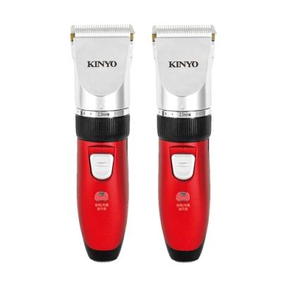 (2入組)【KINYO】充插兩用陶瓷刀頭電動剪髮器(HC-6120)無線達120分鐘