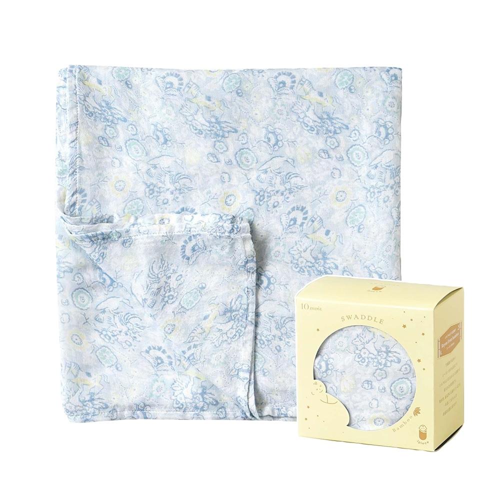 SOULEIADO 法漾花卉竹纖維紗布包巾