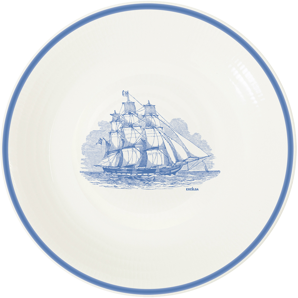 《EXCELSA》陶製平盤(帆船藍)