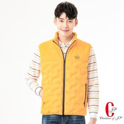 Christian  時尚機能休閒立領背心 _黃(JW802-35)