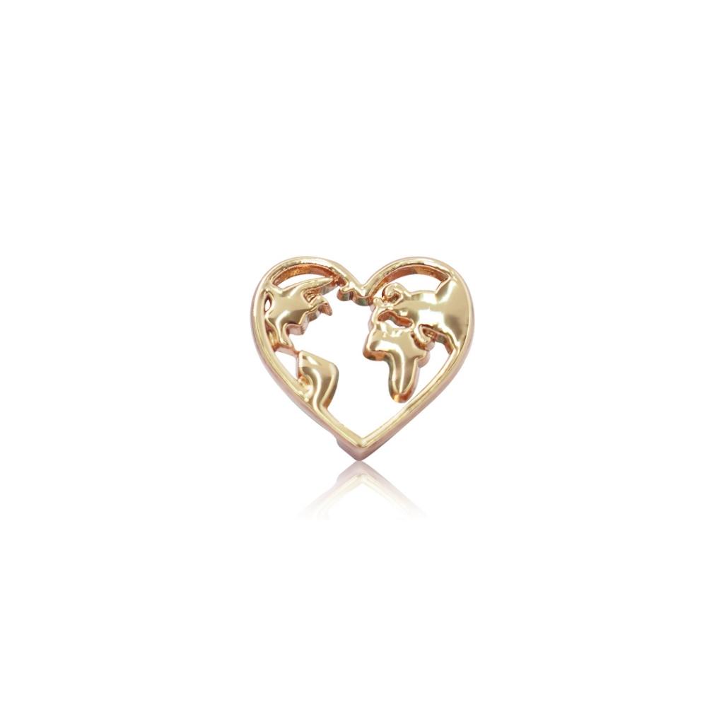 HOURRAE 心型地球 人氣玫瑰金系列 小飾品