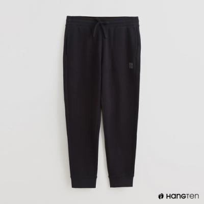 Hang Ten - 男裝 - 腰部鬆緊抽繩純棉運動長褲 - 藍